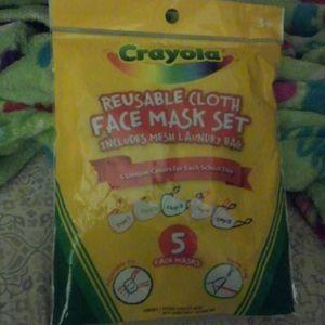 Crayola Reusable Cloth Face Mask Set